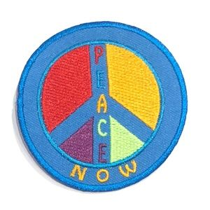 Accessories - Peace Sign Patch iron on Now Hippie Retro DIY